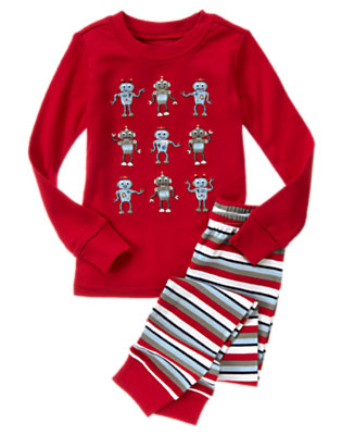 Toddler Boys Robot Red Robot Two-Piece Gymmies® by Gymboree