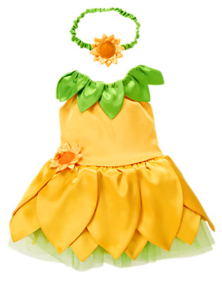 Sunny Yellow Baby Sunflower Blossom Costume by Gymboree