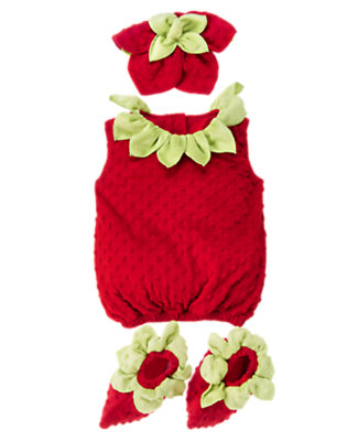 Berry Red Baby Strawberry Costume by Gymboree