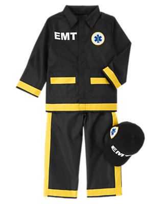 Black Junior EMT Costume by Gymboree