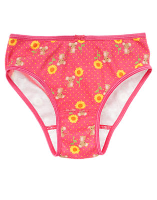 Toddler Girls Pretty Pink Sunflower Mouse Panty by Gymboree