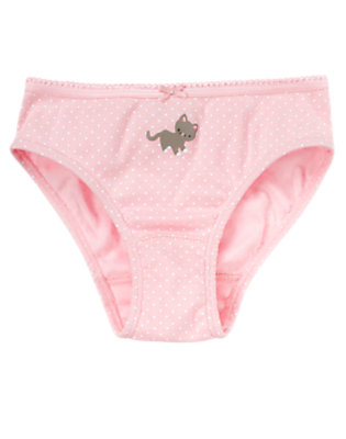 Toddler Girls Soft Pink Dot Kitty Dot Panty by Gymboree