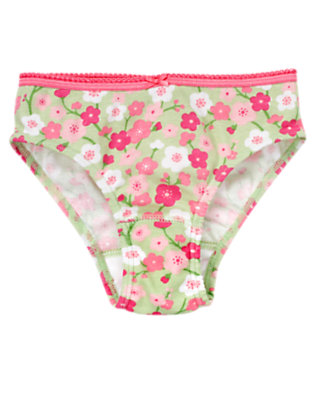 Girls Mint Green Blossom Cherry Blossom Panty by Gymboree