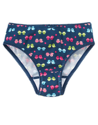 Girls Deep Blue Birdie Panty by Gymboree
