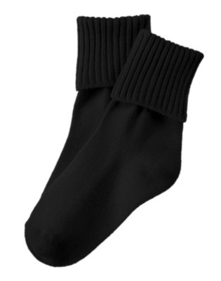 Boys Black Foldover Socks by Gymboree