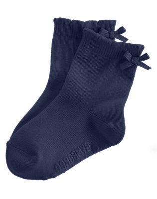 Toddler Girls Navy Bow Sock by Gymboree
