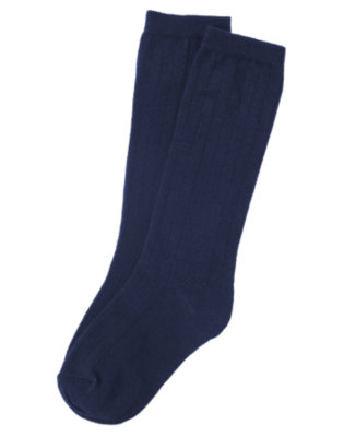 Girls Navy Knee Sock by Gymboree