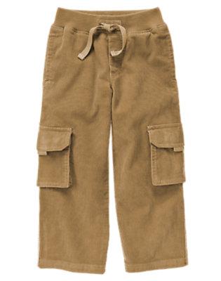 Khaki Corduroy Cargo Pant by Gymboree