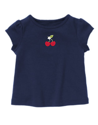 Navy Cherry Tee by Gymboree
