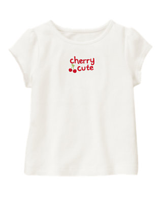Ivory Cherry Cute Tee by Gymboree