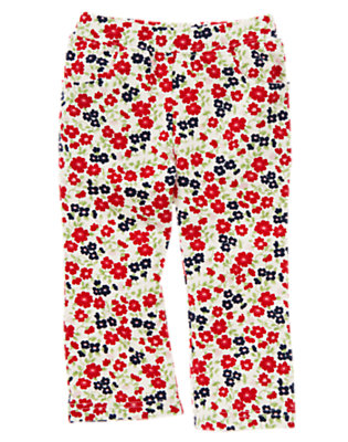 Ivory Wildflower Wildflower Print Knit Pant by Gymboree