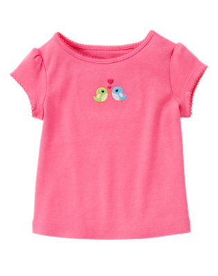 Petunia Pink Love Birds Tee by Gymboree