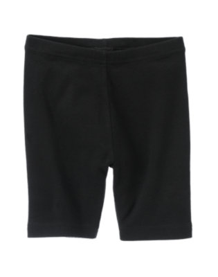 Girls Black Uniform Bike Short by Gymboree