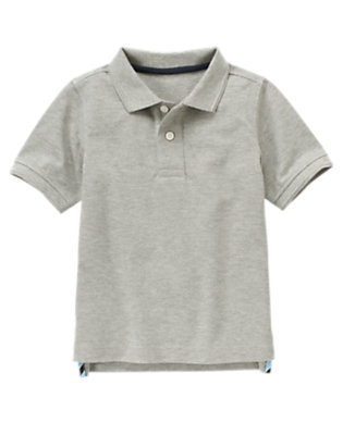 Heather Grey Uniform Polo Shirt by Gymboree