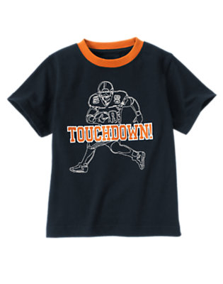 Gym Navy Touchdown Tee by Gymboree