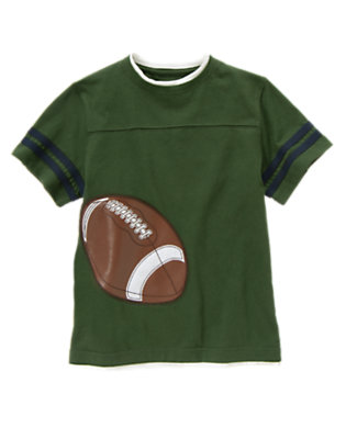 Boys Forest Green Football Tee by Gymboree