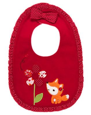 Baby Zinnia Red Fox Flower Bib by Gymboree