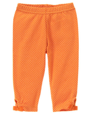 Pumpkin Orange Dot Halloween Dot Legging by Gymboree