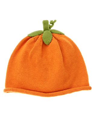 Pumpkin Orange Pumpkin Sweater Hat by Gymboree