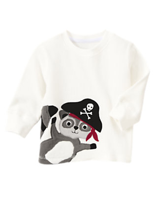 Toddler Boys Ivory Raccoon Pirate Thermal Tee by Gymboree