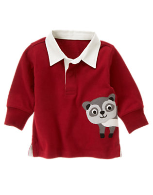 Flag Red Raccoon Rugby Shirt by Gymboree