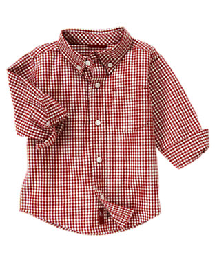 Flag Red Check Gingham Shirt by Gymboree