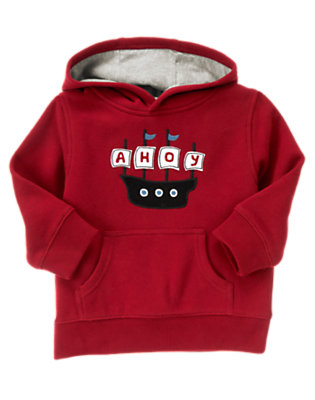 Flag Red Pirate Ship Hoodie by Gymboree