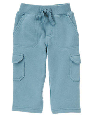Toddler Boys Slate Blue Fleece Cargo Pant by Gymboree