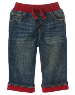 Toddler Boys Denim Pull-On Cuffed Jean by Gymboree