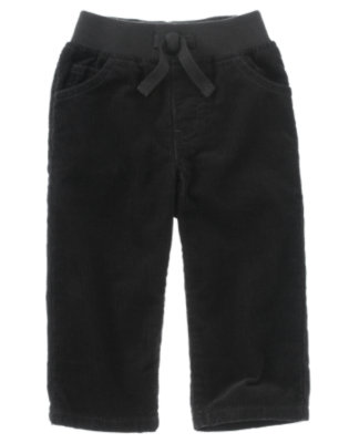 Toddler Boys Black Pull-On Corduroy Pant by Gymboree