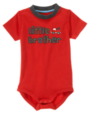 Car Red Little Brother Bodysuit by Gymboree