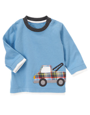 Tow Truck Blue Tow Truck Top by Gymboree