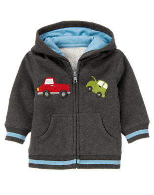 Asphalt Grey Tow Truck Hoodie by Gymboree