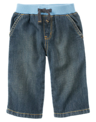 Baby Denim Tow Truck Carpenter Jean by Gymboree