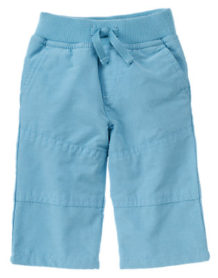 Baby Tow Truck Blue Lined Active Pant by Gymboree
