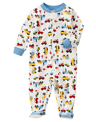 Baby Tow Truck Tow Truck Footed One-Piece by Gymboree