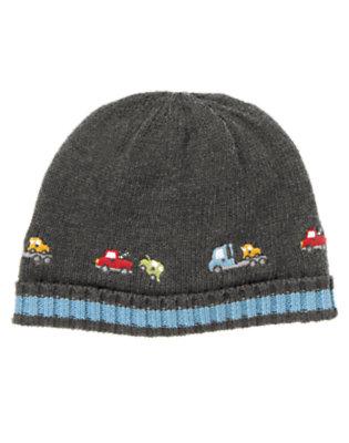 Baby Asphalt Grey Tow Truck Hat by Gymboree