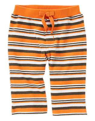 Pumpkin Orange Stripe Stripe Knit Pant by Gymboree