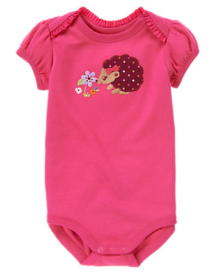 Autumn Rose Hedgehog Bodysuit by Gymboree