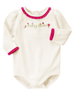 Ivory Baby Sister Bodysuit by Gymboree
