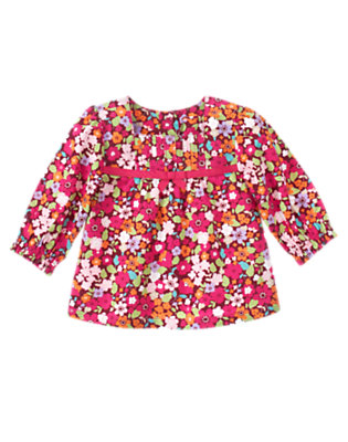 Autumn Rose Floral Floral Pintuck Top by Gymboree