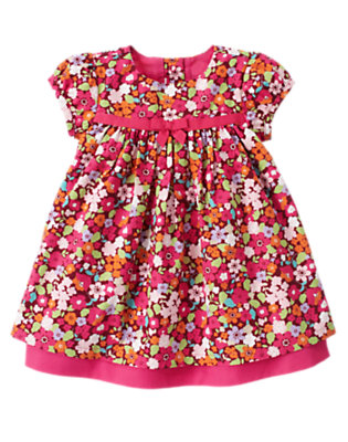 Baby Autumn Rose Floral Floral Dress by Gymboree