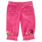 Embroidered Flower Corduroy Pant