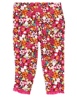 Baby Autumn Rose Floral Floral Legging by Gymboree