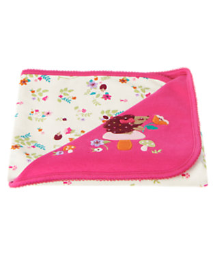 Baby Autumn Rose Hedgehog Blanket by Gymboree