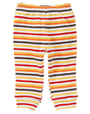 Baby Orange Stripe Stripe Knit Pant by Gymboree