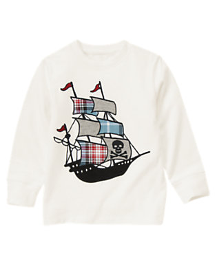 Ivory Flag Pirate Ship Tee by Gymboree