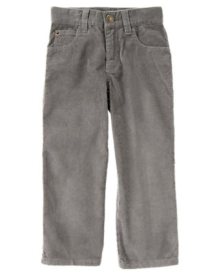 Boys True Grey Corduroy Pant by Gymboree