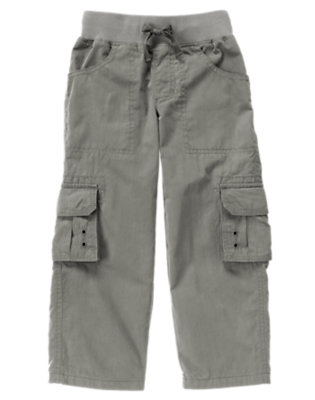 True Grey Lined Drawstring Cargo Pant by Gymboree