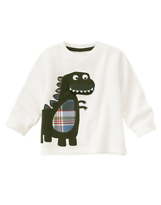 Ivory Hungry Dinosaur Thermal Tee by Gymboree